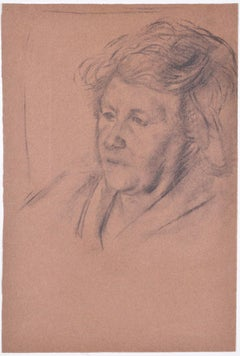 Sketch of a Woman: Hilary Hennes Miller c.1940 English Modern British Art