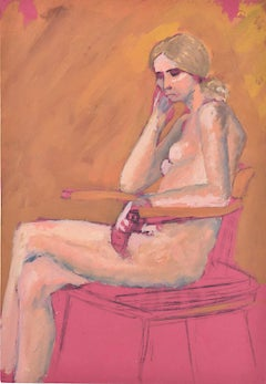 Woman sitting: Hilary Hennes Miller c.1940 English Modern British Art