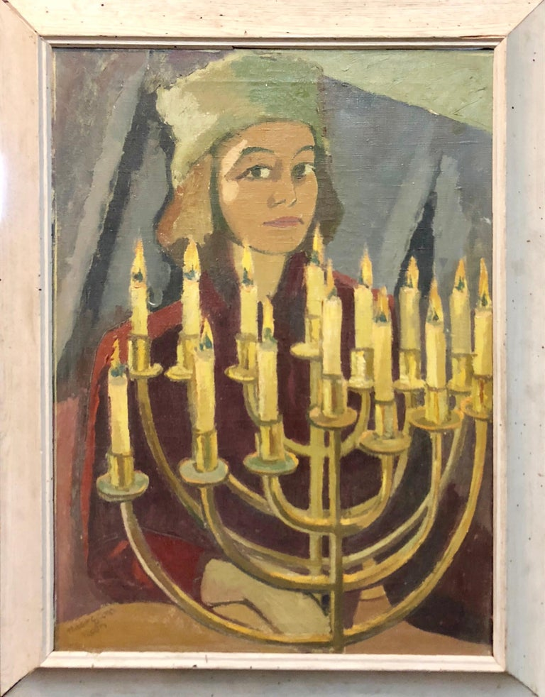 1950's Expressionist Judaica Painting