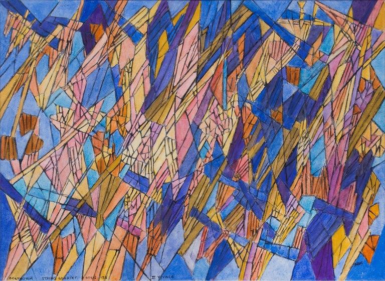Beethoven - String Quartet Opus 135 - II Vivace (Classical Music Series) - Painting by Hildegarde Haas