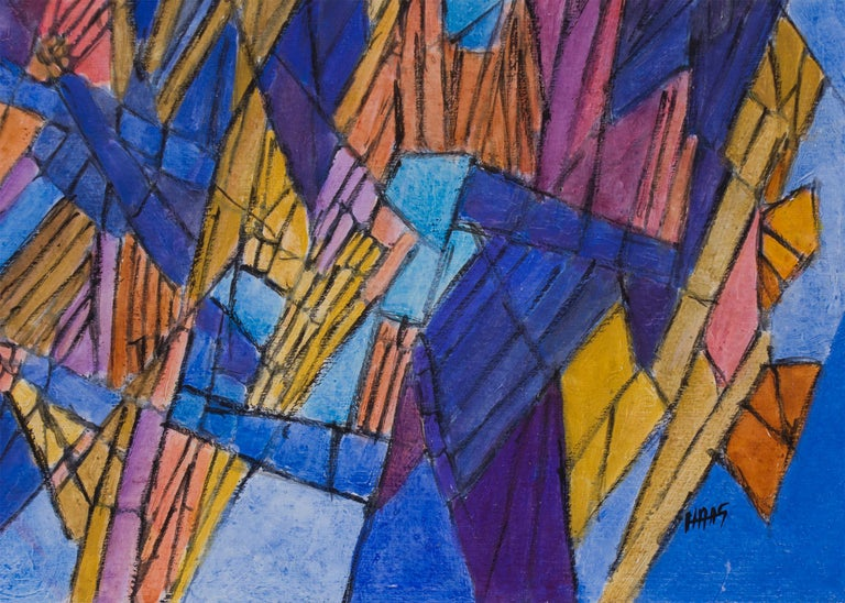 Beethoven - String Quartet Opus 135 - II Vivace (Classical Music Series) - Abstract Painting by Hildegarde Haas