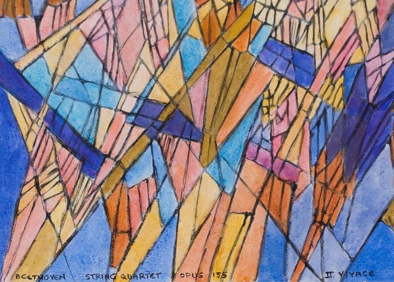 Original vintage watercolor painting by twentieth century San Francisco woman artist, Hildegarde Haas (1926-2002).