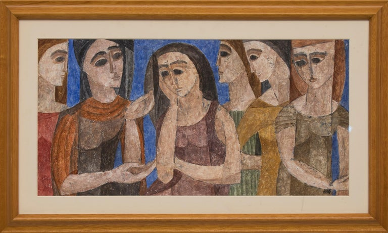 Six Women - Painting by Hildegarde Haas