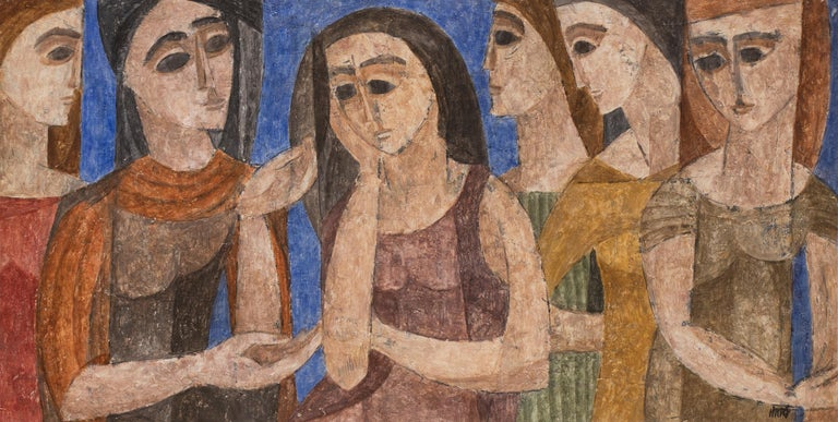 Hildegarde Haas Figurative Painting - Six Women