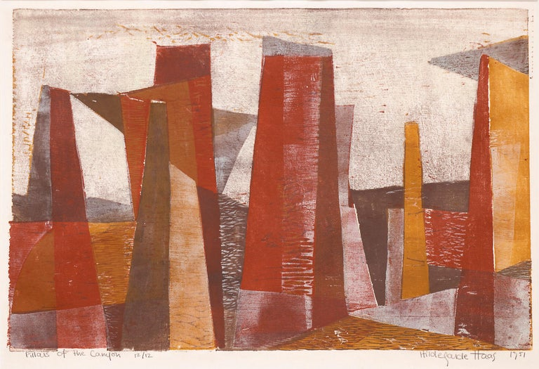 Pillars of the Canyon - Print by Hildegarde Haas