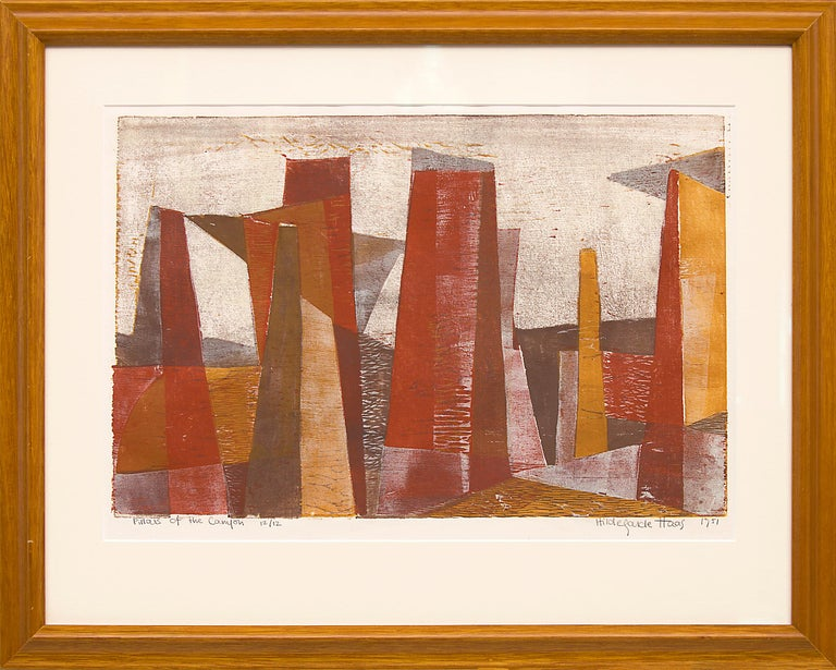 Hildegarde Haas Figurative Print - Pillars of the Canyon
