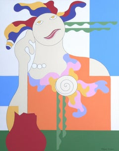 'Battle' by Hildegarde Handsaeme, abstract acrylic on canvas