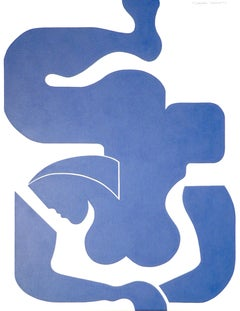'Blue Sensation' by Hildegarde Handsaeme, abstract acrylic on canvas