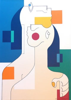 Consolation, Hildegarde Handsaeme, Abstract Figurative, Bold Patterns, Romantic