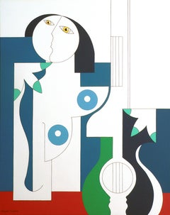 'Etude' by Hildegarde Handsaeme, acrylic on canvas, abstract