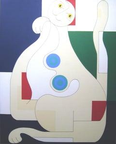 Female Cat, Hildegarde Handsaeme, Cat, Feline Portrait, Abstract, Pattern