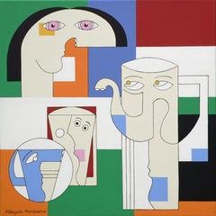 Illy, Hildegarde Handsaeme, Still Life, Square Abstraction, Bold Color Patterns