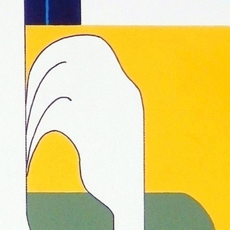 'L'Oiseau de Liberte' by Hildegarde Handsaeme, acrylic on canvas, abstract For Sale 2
