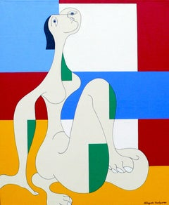 'Message d'Espoir' by Hildegarde Handsaeme, acrylic on canvas