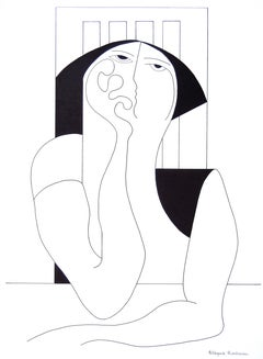 'Philosophy' by Hildegarde Handsaeme, abstract ink on paper