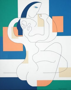 'Sans Frontieres' by Hildegarde Handsaeme, acrylic on canvas