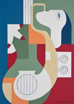'The Saxo Charm' by Hildegarde Handsaeme, geometric abstract, acrylic on canvas