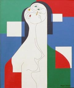 'Trio' by Hildegarde Handsaeme, acrylic on canvas