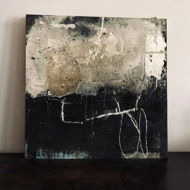 Hildur Ines Abstract Painting - German Artist, Mixed-Media on wood
