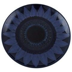 Hilkka-Liisa Ahola for Arabia, Large Modernist Unique Ceramic Dish