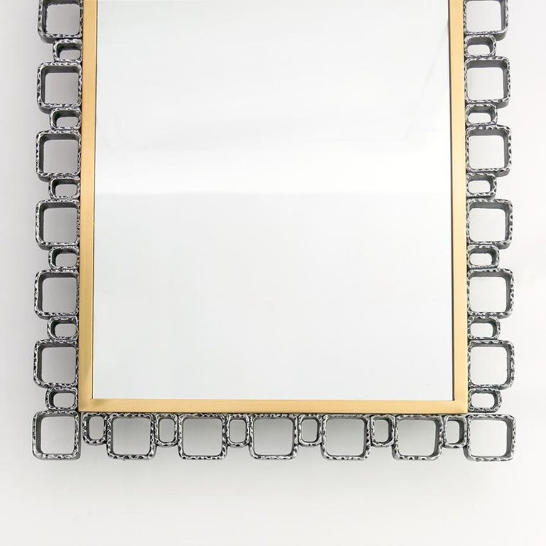 Hillebrand Mid-Century Modern Mirror with Back Light In Good Condition For Sale In New York, NY