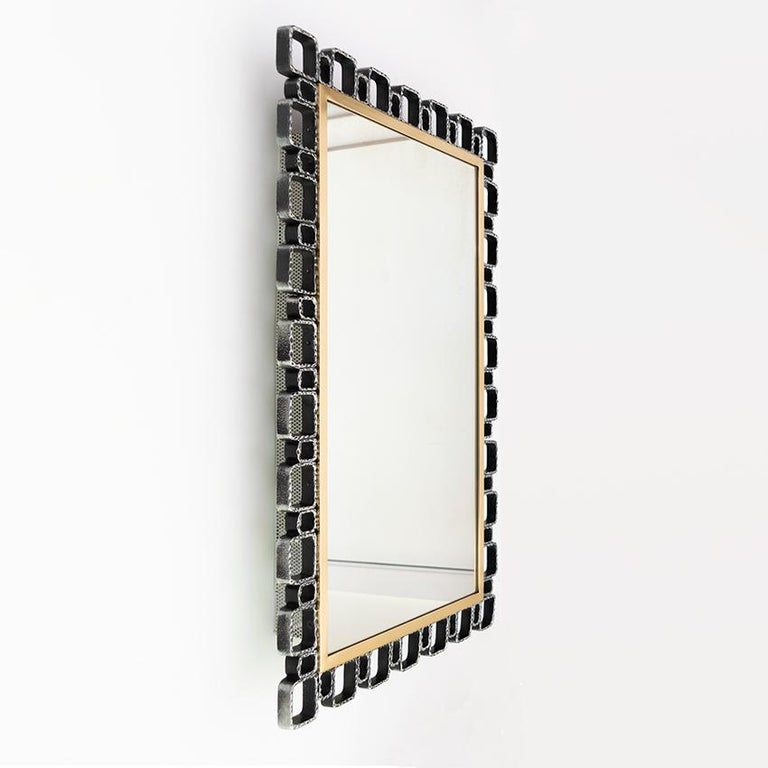 20th Century Hillebrand Mid-Century Modern Mirror with Back Light For Sale