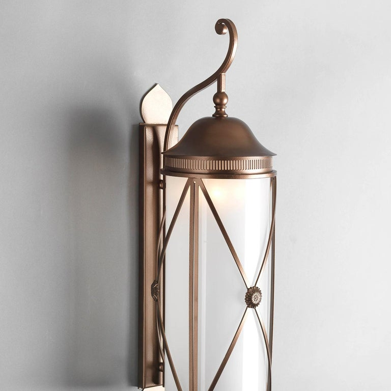 Hills Outdoor Wall Lantern by Officina Ciani In New Condition For Sale In Milan, IT