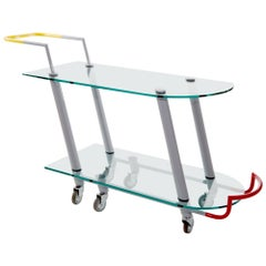 Hilton Metal and Glass Trolley, by Javier Mariscal from Memphis Milano