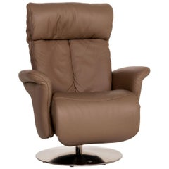 Himolla 7227 Leather Armchair Brown Relaxation Function Function Relaxation