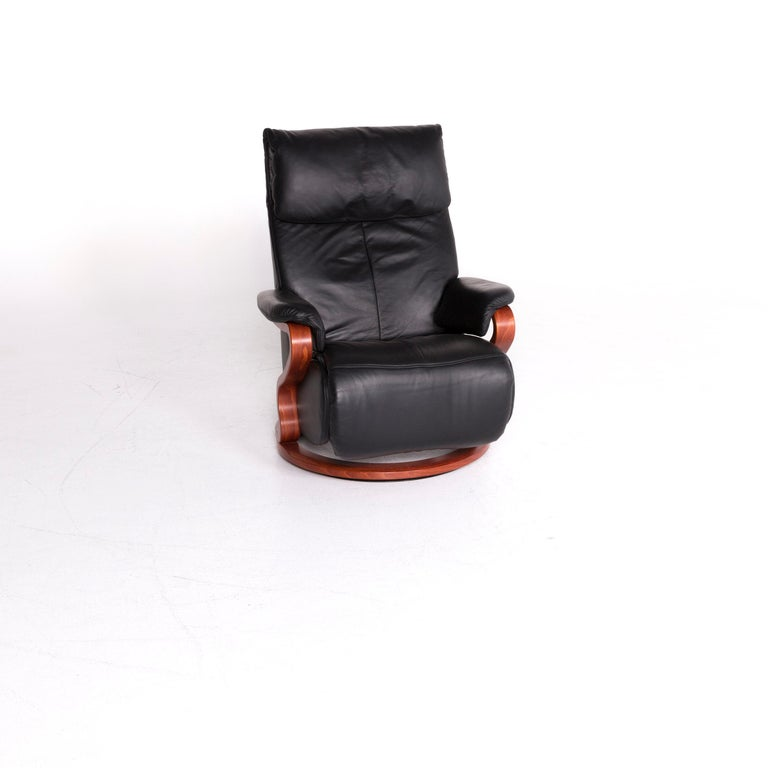 Brilliant Himolla Designer Leather Armchair Black Recliner Function Chair Onthecornerstone Fun Painted Chair Ideas Images Onthecornerstoneorg