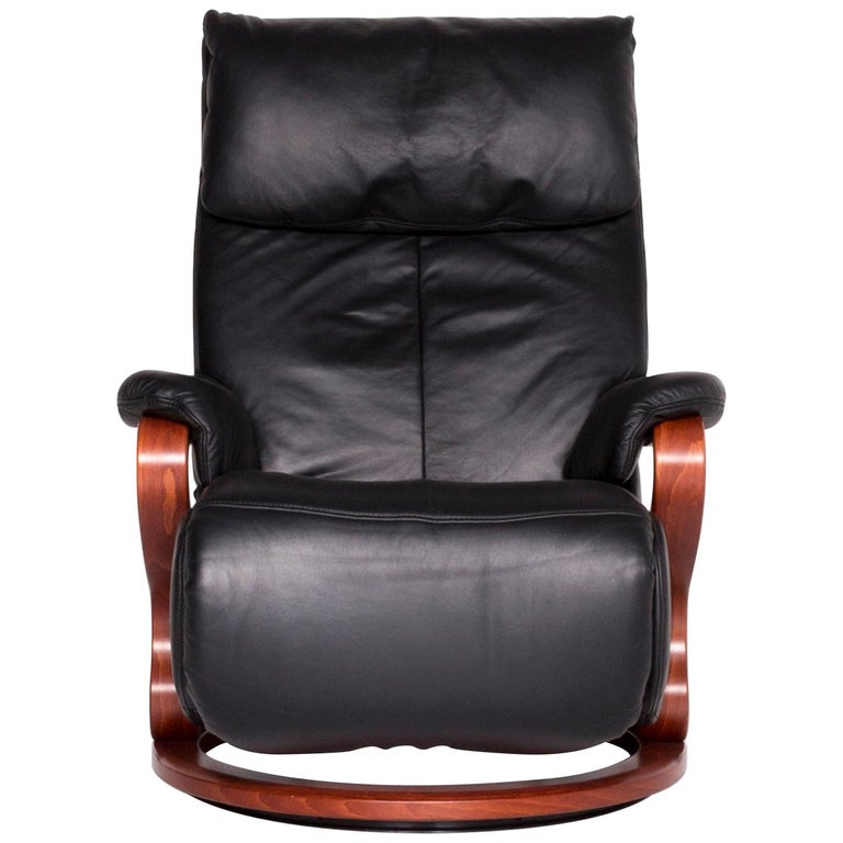 Stupendous Himolla Designer Leather Armchair Black Recliner Function Onthecornerstone Fun Painted Chair Ideas Images Onthecornerstoneorg