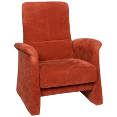 Himolla Fabric Armchair Orange Rust Red