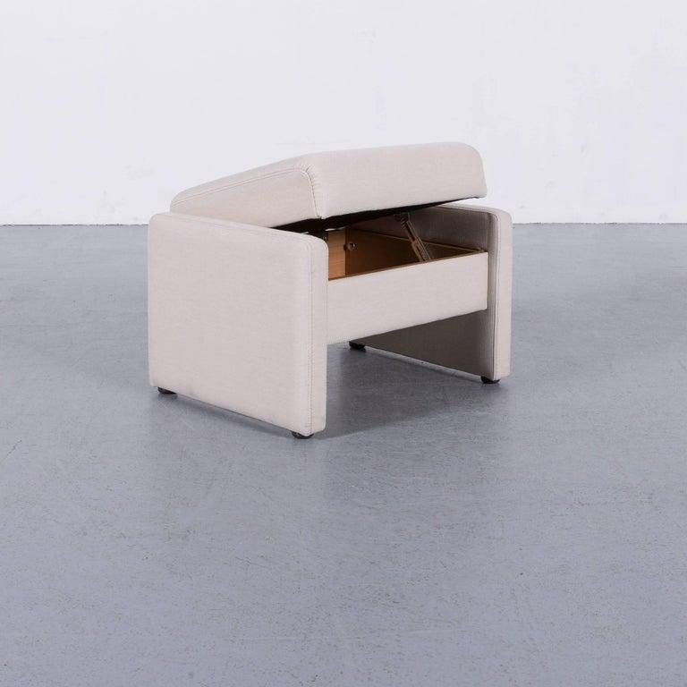 German Himolla Fabric Foot-Stool Off-White Bench