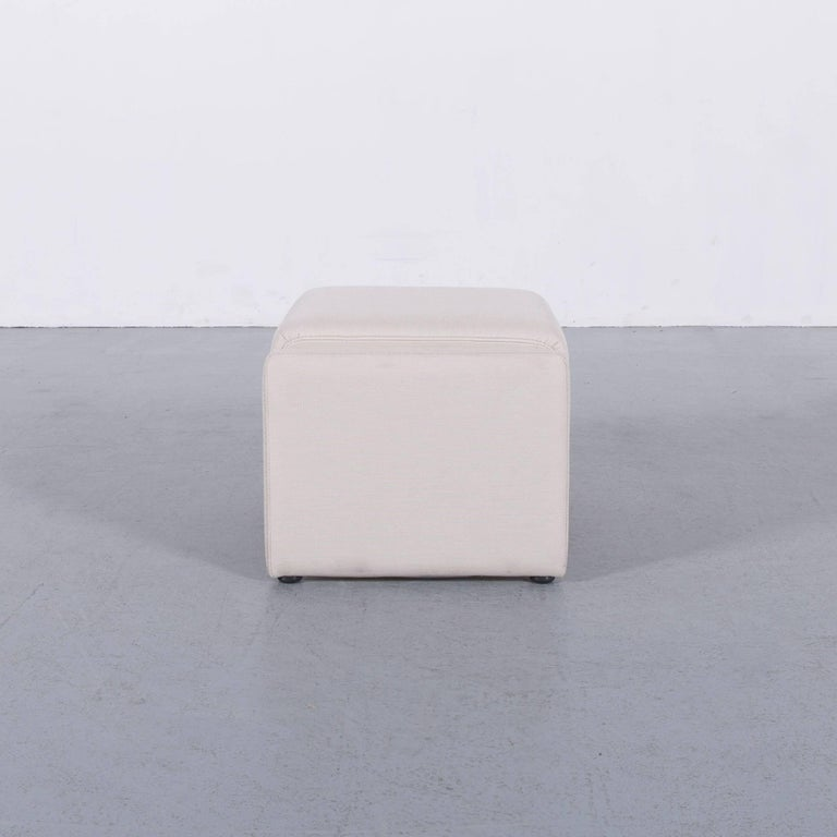 Contemporary Himolla Fabric Foot-Stool Off-White Bench