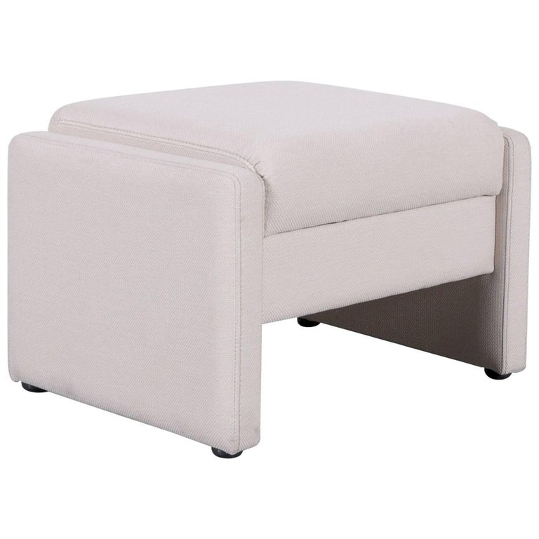 Himolla Fabric Foot-Stool Off-White Bench