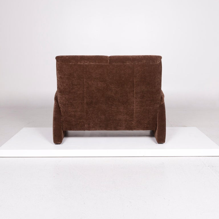 Himolla Fabric Sofa Brown Two-Seat Couch For Sale 2