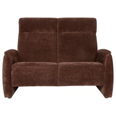 Himolla Fabric Sofa Brown Two-Seat Couch