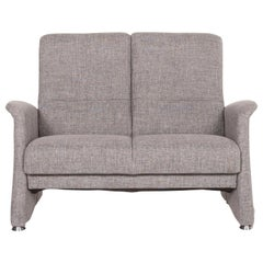 Himolla Fabric Sofa Gray Two-Seat Couch