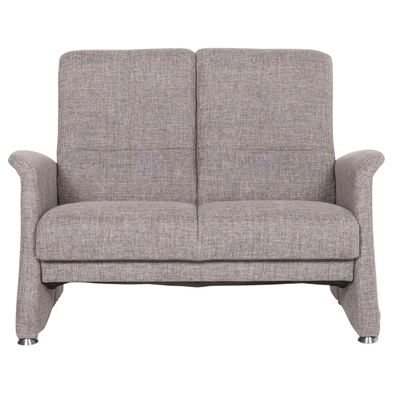 Himolla Fabric Sofa Gray Two-Seat Couch For Sale