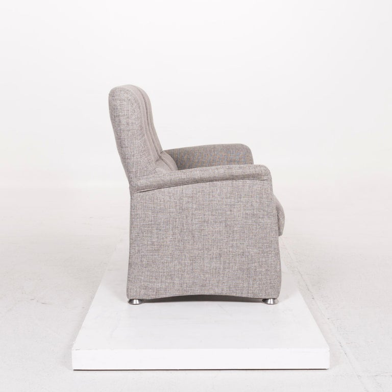 Himolla Fabric Sofa Gray Two-Seat Couch For Sale 1