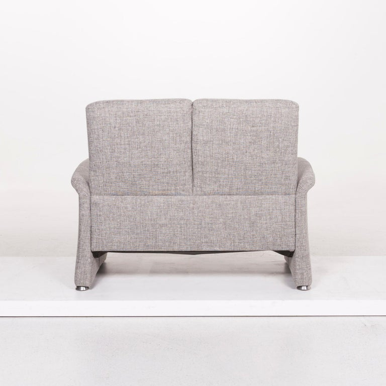 Himolla Fabric Sofa Gray Two-Seat Couch For Sale 2