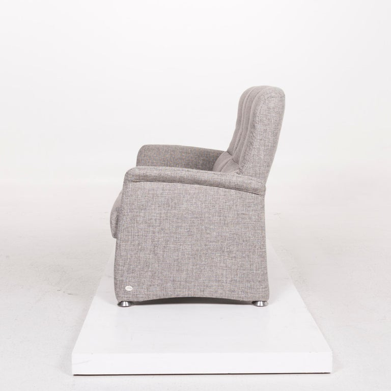 Himolla Fabric Sofa Gray Two-Seat Couch For Sale 3