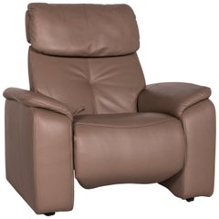 Himolla Leather Armchair Beige Relax Function