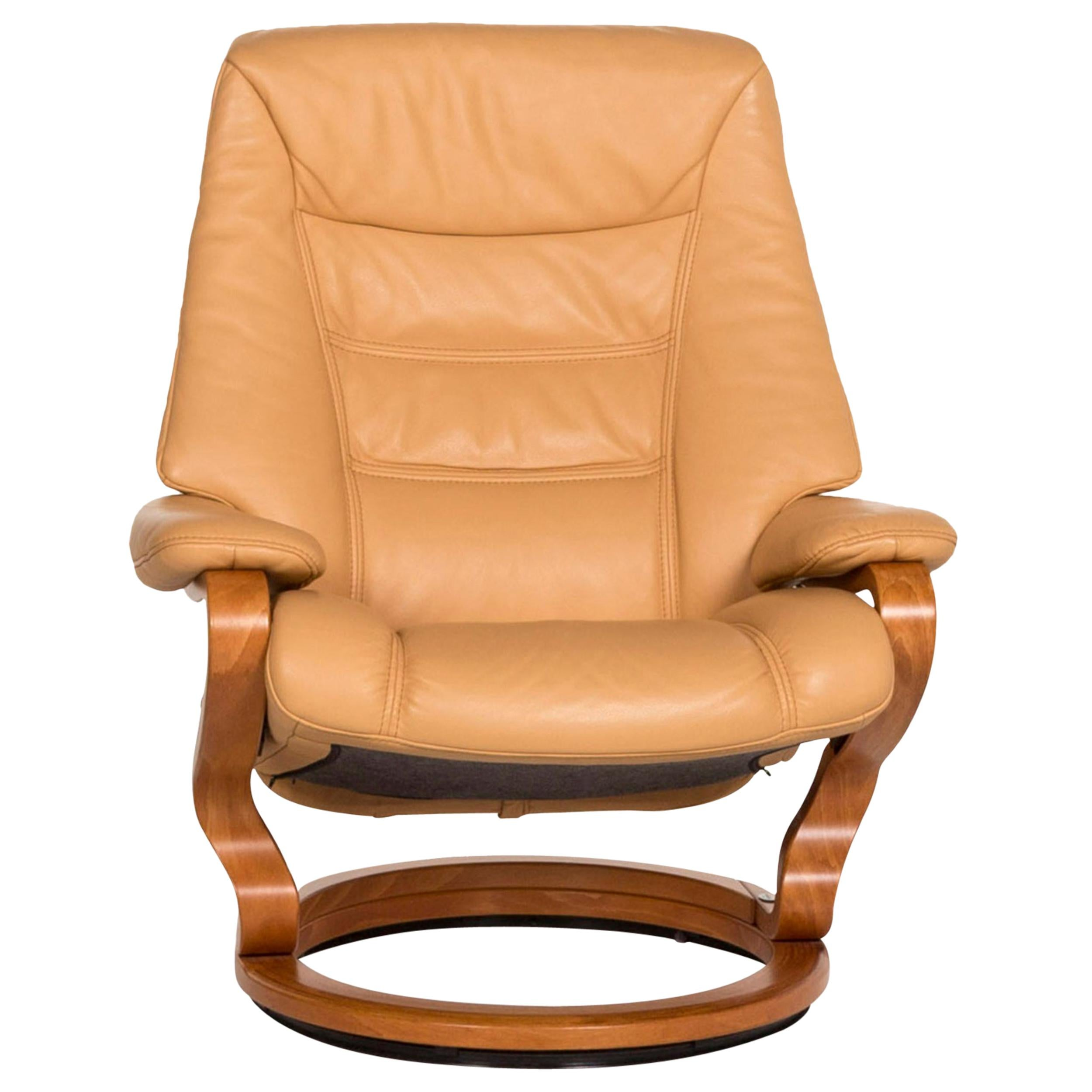 Himolla Leather Armchair Beige Relax Function Relax Armchair