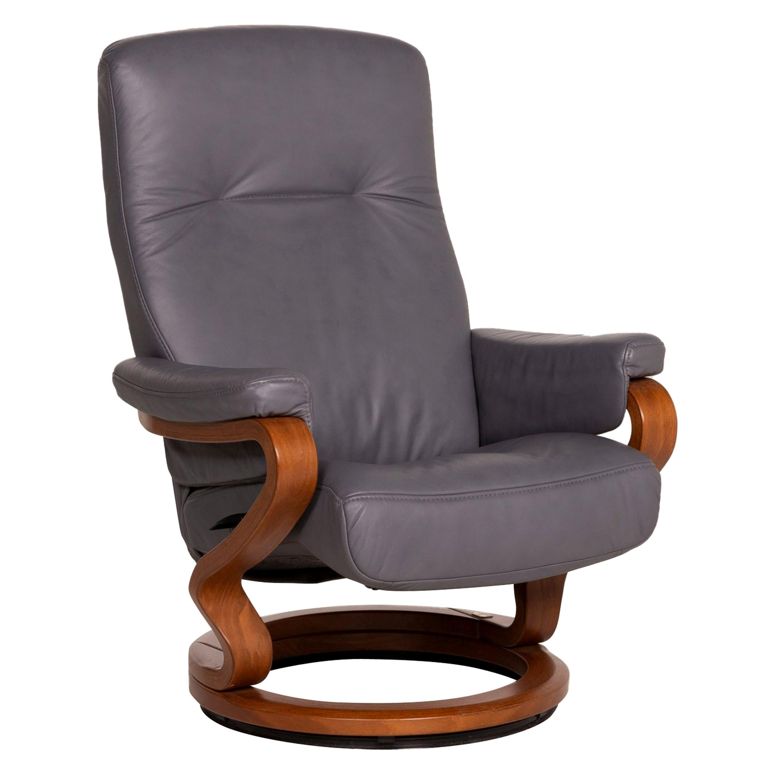 Himolla Leather Armchair Gray Relax Function
