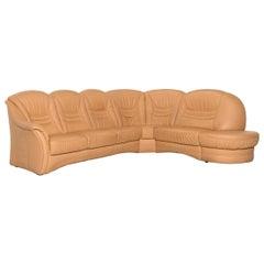 Himolla Leather Corner Sofa Beige Sofa Couch
