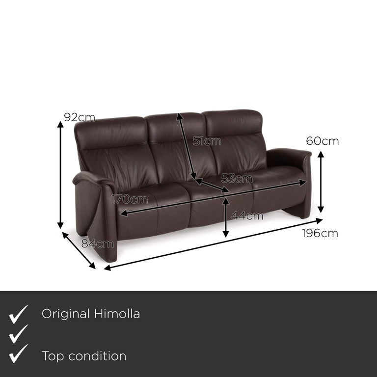 We present to you a Himolla leather sofa brown dark brown three-seater couch.