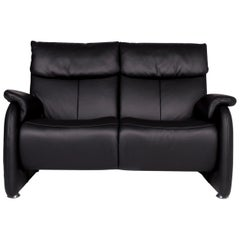 Himolla Leder Sofa Anthrazit Grau Zweisitzer Couch