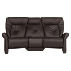 Himolla Trapeze Leather Sofa Dark Brown Three-Seat