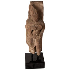 Hindu Deity Figure Carved in Basalt, 'circa 1850', India